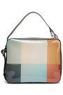 MARNI Leather-trimmed color-block PVC shoulder bag
