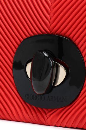 GIORGIO ARMANI Ribbed leather shoulder bag