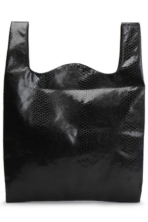 MM6 MAISON MARGIELA Snake-effect faux leather tote