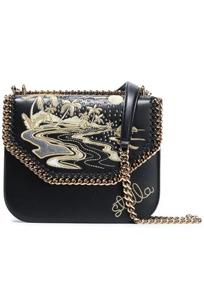 STELLA McCARTNEY Embellished faux leather shoulder bag
