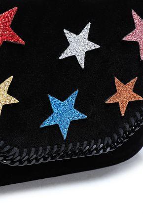STELLA McCARTNEY Embellished velvet shoulder bag