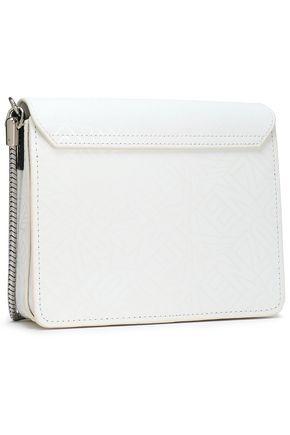 KENZO Laser-cut leather shoulder bag