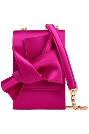 N°21 Knotted satin shoulder bag