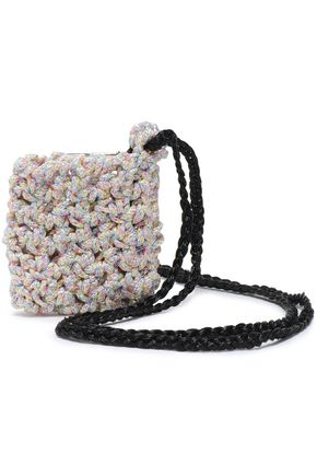 MISSONI Marled crochet-knit coin purse c91afb3ea622