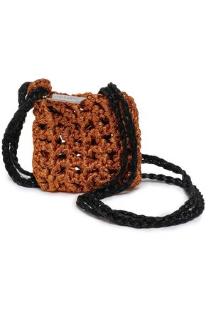 MISSONI Metallic crocheted coin purse