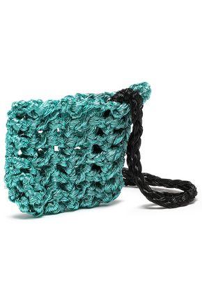 MISSONI Metallic crocheted coin purse