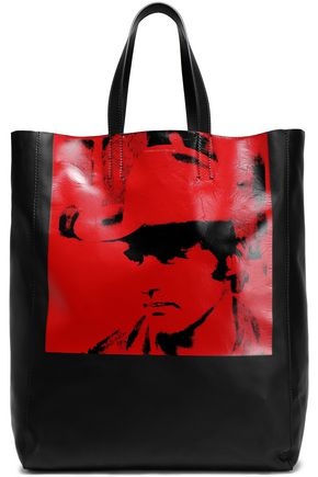 CALVIN KLEIN 205W39NYC Printed leather tote
