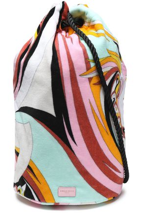 EMILIO PUCCI Printed terry beach bag
