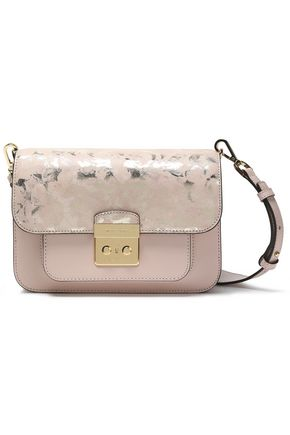MICHAEL MICHAEL KORS Metallic printed leather shoulder bag