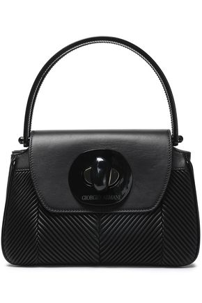 GIORGIO ARMANI Pleated leather tote