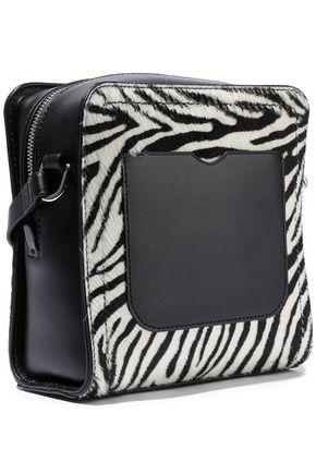 3.1 PHILLIP LIM Hudson Square mini zebra-print calf hair and leather shoulder bag