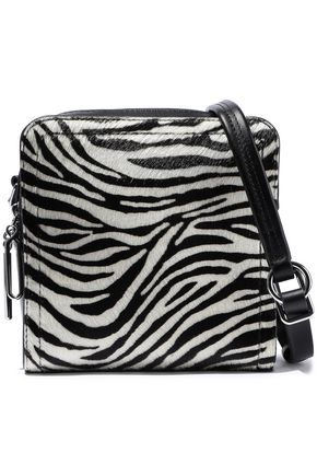 3.1 PHILLIP LIM Hudson Square mini zebra-print calf hair and leather shoulder bag