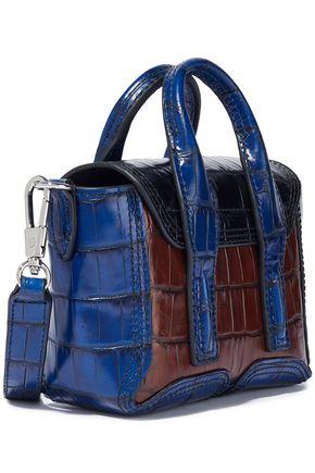 3.1 PHILLIP LIM Pashli nano color-block croc-effect leather shoulder bag