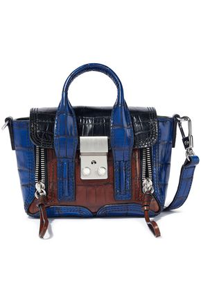 3.1 PHILLIP LIM Pashli nano color-block croc-effect leather shoulder bag