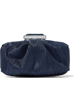 OSCAR DE LA RENTA Goa gathered moire clutch