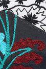 OSCAR DE LA RENTA Embroidered faille envelope clutch