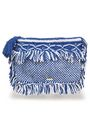 MELISSA ODABASH Fringed crocheted cotton pouch
