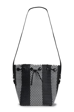 TRUSS Woven raffia-effect bucket bag