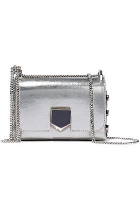 JIMMY CHOO Lockett mini metallic textured-leather shoulder bag