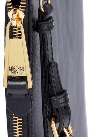 MOSCHINO Printed leather clutch