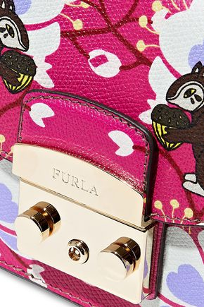 FURLA Toni printed leather shoulder bag