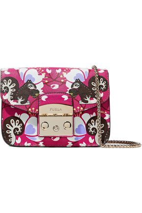 FURLA Toni printed leather shoulder bag