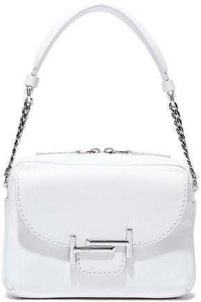 TOD'S Chain-trimmed leather shoulder bag