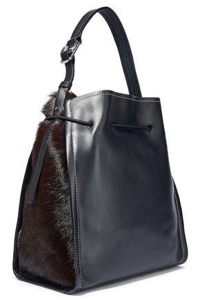 3.1 PHILLIP LIM Soleil calf hair-paneled leather bucket bag