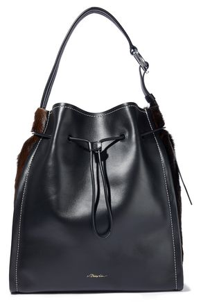 3.1 PHILLIP LIM Soleil calf hair-paneled leather bucket bag