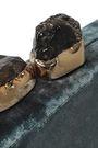 KAYU Margaux stone-embellished crushed-velvet clutch