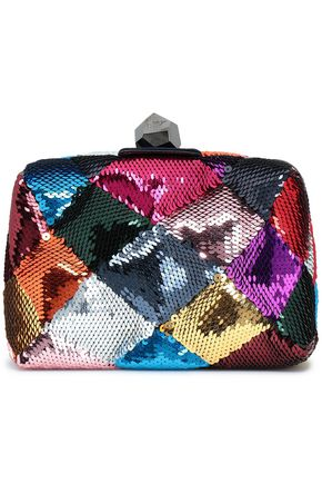 ROGER VIVIER Prismick sequined satin clutch