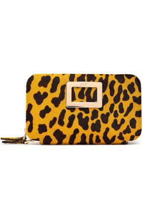 ROGER VIVIER Leopard-print calf hair clutch