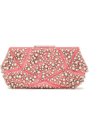 ROGER VIVIER Studded leather clutch