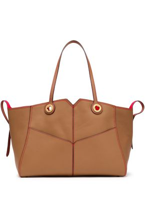 SANDRO Textured-leather tote