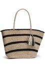 KAYU Tasseled striped straw tote