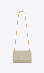 f3daa31bdd34 Saint Laurent Kate Medium In Grain De Poudre Embossed Leather With A Star  Print In Ivory
