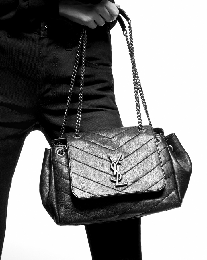 5b3f3b06de27 Saint Laurent NOLITA Medium Chain Bag In Vintage Leather