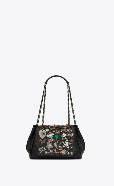 3a934a130a9 NOLITA Small chain bag in vintage leather decorated with pins ...
