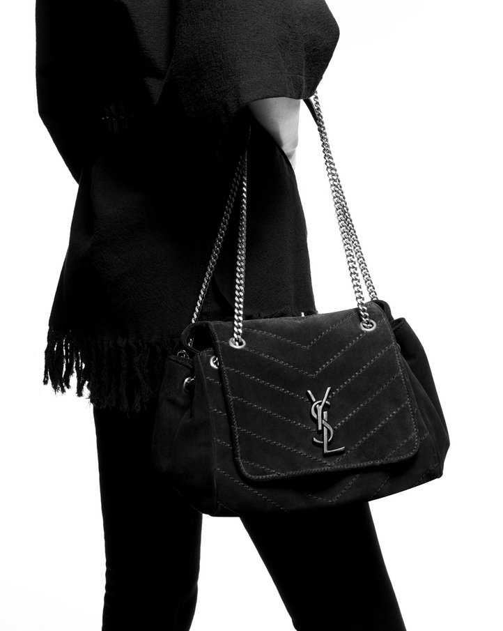 6a5464e35f61 Saint Laurent NOLITA Small Chain Bag In Vintage Leather Decorated ...