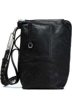 RICK OWENS Braid-trimmed leather shoulder bag