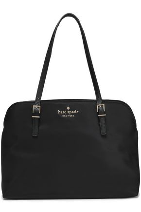 KATE SPADE New York Leather-trimmed shell tote
