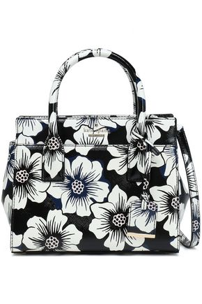KATE SPADE New York Floral-print faux patent-leather shoulder bag