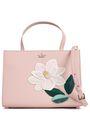 KATE SPADE New York Floral-appliquéd textured-leather shoulder bag