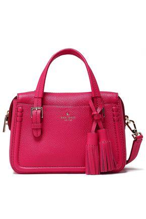 KATE SPADE New York Orchard Street tasseled textured-leather shoulder bag