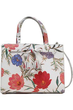 KATE SPADE New York Hayes Street floral-print textured-leather shoulder bag