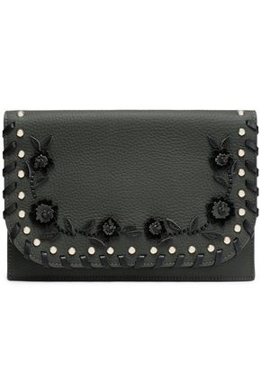 KATE SPADE New York Madison Daniels Vita embellished leather clutch