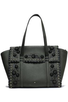 KATE SPADE New York Madison Daniels embellished textured-leather shoulder bag