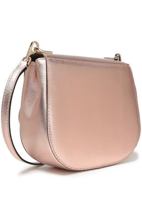 KATE SPADE New York Metallic textured-leather shoulder bag