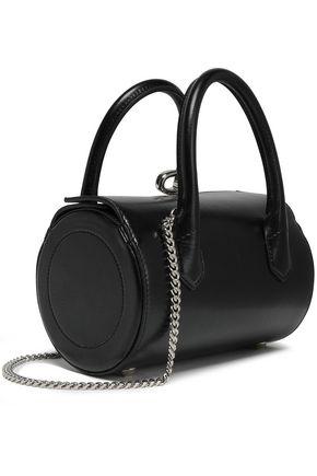 OSCAR DE LA RENTA Textured-leather shoulder bag