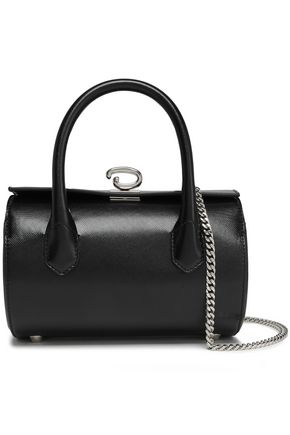 OSCAR DE LA RENTA Textured-leather shoulder bag